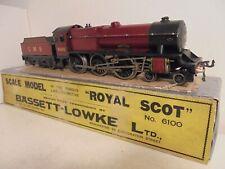 "Bassett Lowke""O""-4303/0 LMS 4-6-0 Royal Scot 6100 Loco&Tender-AC-xcelnt/boxd1933"