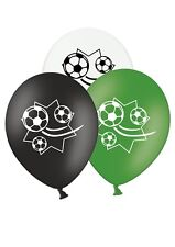 """Football Star - 12"""" Printed Latex Balloons Assorted Pack of 10 Game Ball Match"""