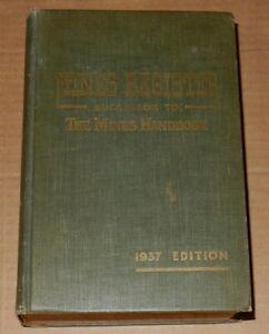 1937 MINES REGISTER Vol. XIX ⚒  by ZIMMERMAN Mining Directory
