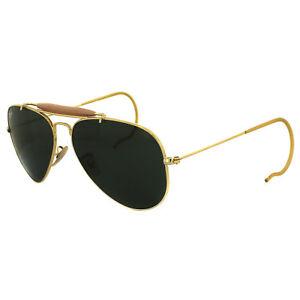 Ray-Ban Sunglasses Outdoorsman 3030 L0216 Gold Green