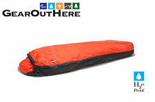 Aqua Quest Mummy Bivy Sack - Waterproof One Person Sleeping Bag Cover - Orange