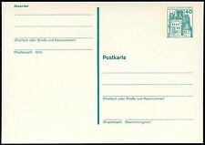 Berlin 1977, 40pf Castle Stationery Card Unused #C20877