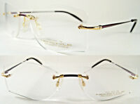 Luxury Neostyle Rimless- 18K Real Gold/Titan - Bordeaux Rot Design -UVP ca.2500€