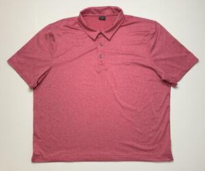 Short Par 4 Polo Shirt Adult Mens XXLARGE 2XL Pink Heathered Short Sleeve Golf