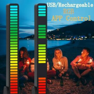 RGB LED Voice-Activated Pickup Rhythm Light Sound Control Ambient Rechargeable