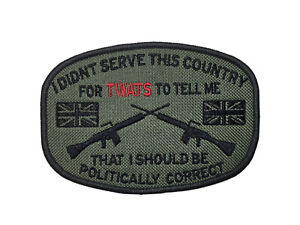 """Politically Corect 4 1/2"""" X. 3 1/2"""" Serve This Country Veteran Patch Biker !"""