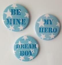 Boyfriend Star Button Magnets set of 3 by T Squared