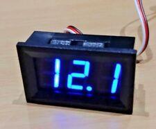 4.5v - 99.9v DC 3 Wire Blue LED Panel LED Display Voltage Meter Voltmeter