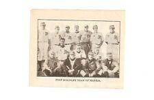 Fort McKinley Team of Manila Baseball & Minneapolis Minnies 1912 Team Picture