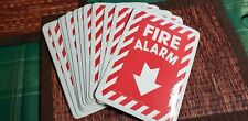 14 Fire Alarm Arrow Sticker  Work Safety Business Sign Decal Label Sticker