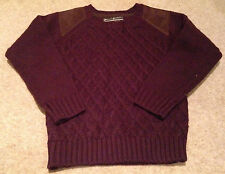 Boys Maroon Knit Top Size 5-6 Years