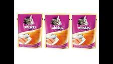 Whiskas Cat Wet Food Pouch Mackerel Salmon 1Y+adult cat Real Fish 85g x 3PCS
