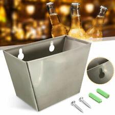 Wall Mount Bar Beer Bottle Opener Cap Catcher Stainless Steel Box W/ Screws