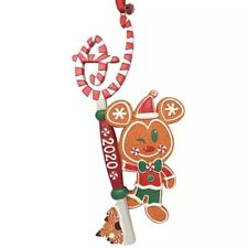 Disney Store Mickey Mouse Gingerbread Christmas Key Ornament 2020