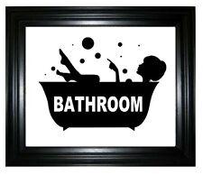 CUT VINYL STICKER BATHROOM DOOR / MIRROR / WALL / BATH / WC /  ETC.