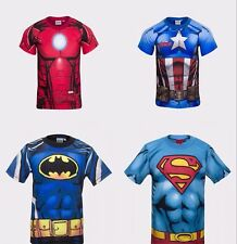 Boys Officially Licensed Marvel DC Comics Short Sleeve T-Shirt Free P+P
