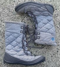 Columbia Womens 9 Minx Mid II OH Twill Winter Waterproof Grey Boots Snow