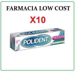 10X POLIDENT LUNGA DURATA 40g IMBATTIBLE STOCK crema adesiva sicurezza confort
