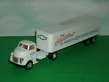 1/45 Scale 1950 Chevy Cabover Tractor Trailer Diecast Semi Truck Coin Bank Ertl