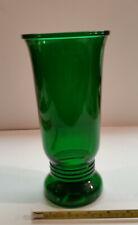 Vintage National Potteries Forest Green Emerald Green Large Vase Ribbed