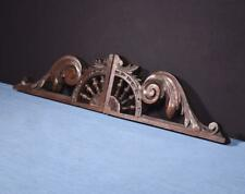 """*Pair of 12"""" French Antique Breton Trim Pieces w/Ship's Wheel in Chestnut Wood"""