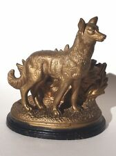Vintage Victorian Terracotta Dog Tobacco Humidor