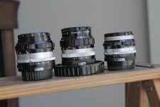Nikon Nikkor 50mm F1.4, Nikkor 35mm F2 and Nikkor 50mm F2 Non ai for Nikon F