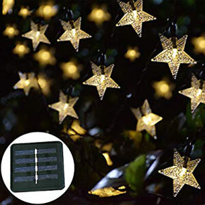 16FT Outdoor String Lights 20 LED Solar Bulb Patio 5M Party Yard Garden Wedding