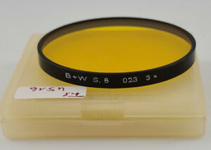 Original B+W Gelb Yellow Objektiv Lens Filter Serie Series VIII 8 4516/21