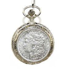 American Coin Treasure 1800s Morgan Silver Dollar Pocket Watch