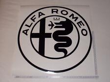 1 x Alfa Romeo Aufkleber für Motorhaube, Dach, Heckfscheibe usw. 50x50cm schwarz