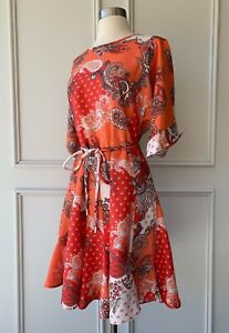 | COUNTRY ROAD | print full skirt dress tomato | NEW | $179 | SIZE: 10,16 |
