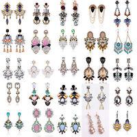 1Pair Women Rhinestone Resin Crystal Ear Stud Eardrop Dangle Earring Jewelry Hot