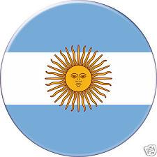 5 x sticker 5cm auto moto velo valise pc portable drapeau Rond Argentine