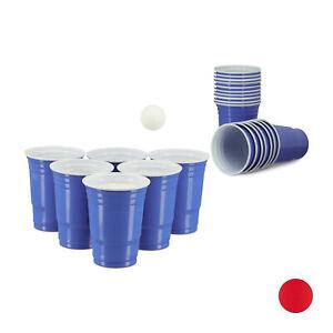 50 x Beer Pong Getränkebecher, Bierbecher blau, Plastikbecher, Trinkbecher Party