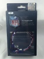 """Eagles Wings NFL NY New York Giants 21"""" Titanium Sports Necklace Brand New MIP"""