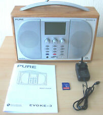 REFURBISHED PURE EVOKE-3 DAB RADIO RECORDER WITH CUE PAUSE REVIEW PROGRAME GUIDE