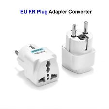 10 X AU UK US To EU Travel Power Plug Socket Travel Adapter - 10 Pcs