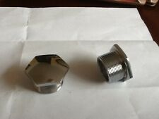 BSA FORK TOP NUTS  CHROME (pair)  C11 C12 A7 A10 B31 B32 B33 B34 M20/21 65-5331