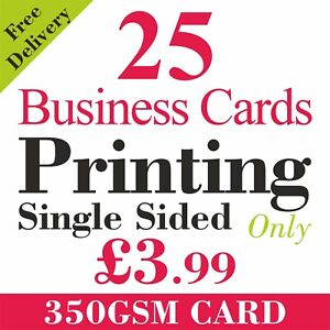 Printed Business Cards FULL COLOUR 350gsm Art Card - Quantity Discount