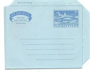 LESOTHO:  Aerogramme 5c. Airplane / 1965 / mint