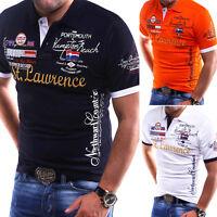 G.B.D. Herren Poloshirt Slim Fit Hemd Kurzarm T-Shirt Schwarz/Weiß/Blau/Grün NEU