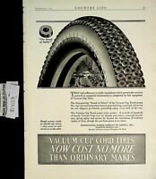 1922 Pennsylvania Vacuum Cup Cord TIres Vintage Print Ad 6463