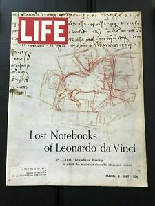 Life 1967 Mar 3~Lost Notebooks of Leonardo da Vinci~Jim Garrison~Walter Matthau