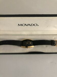 Movado 87.C1.960. Gold tone Museum Watch