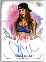 NIKKI BELLA 2015 WWE TOPPS UNDISPUTED DIVAS AUTO AUTOGRAPH CARD!