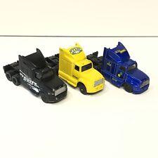 Maisto Fresh Metal Tractor Trailer Cab Lot of 3 Black Yellow Blue