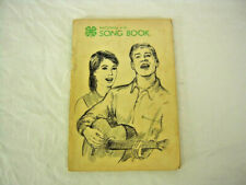 VINTAGE National 4-H Song Book - 1968 - sheet music - piano, voices, and guitar