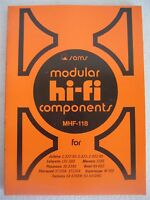Sams Modular HI FI Manual MHF-118  Marantz, Panasonic, Technics and more