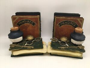 2 X Harry Potter Style Bookend - Books, Glasses, Ink, Romeo And Juliet, Memories
